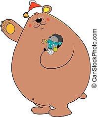 hérisson, ours