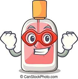 héros, parfum, botlle, forme, super, dessin animé