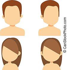 hím, avatar, női