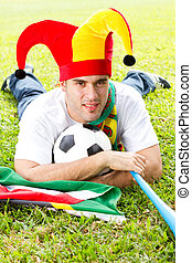hím, futball, rajongó