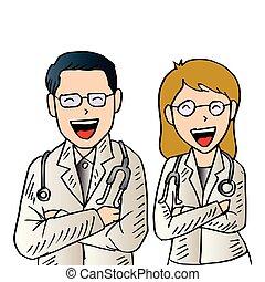 hím, női, doctors.