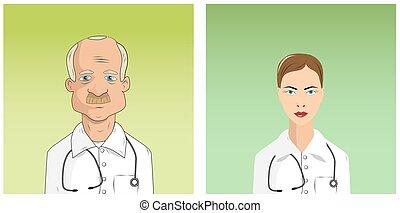 hím, női, orvosok