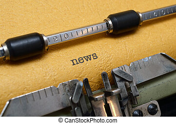 hír, írógép