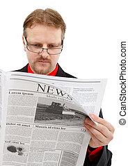 hír, felolvasás, ember