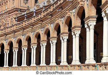 híres, plaza espana, (was, a, találkozóhely, helyett, a,...