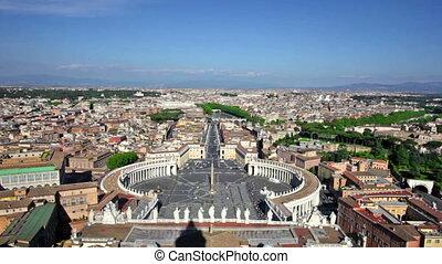 híres, szent peter's derékszögben, alatt, vatikán