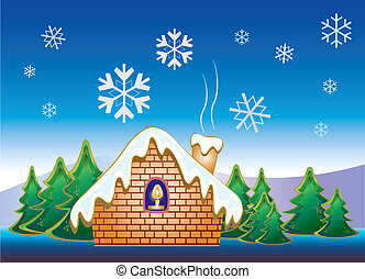 hó, épület