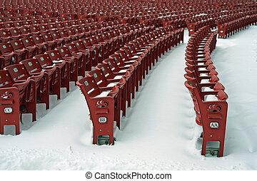 hó, üres, elhelyez