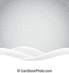 hó, dombok, karácsony