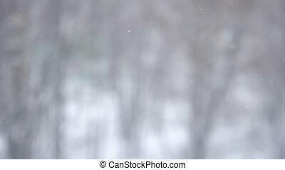 hó, esés, háttér