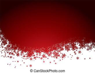 hó, háttér, piros