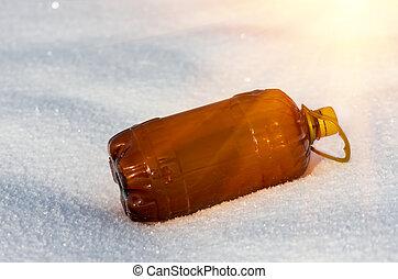 hó, palack, műanyag