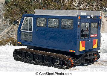 hó, szállít, jármű