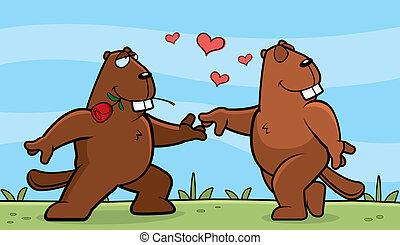 hódprém, románc
