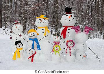 hóember, család