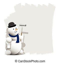 hóember, festék