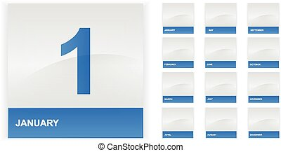 hónap, naptár, állhatatos, ikonok