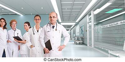 hôpital, équipe, healthcare
