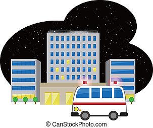 hôpital, ambulance