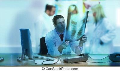 hôpital, bureau, fonctionnement, docteur
