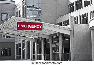 hôpital, chambre d'urgence