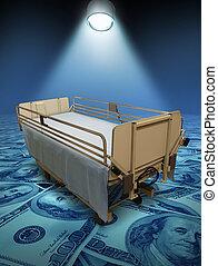 hôpital, coûts, soin