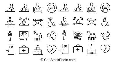 hôpital, fond, docteur, infirmière, blanc, chirurgie