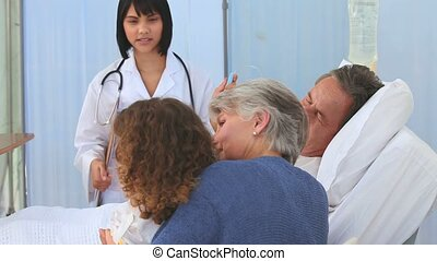 hôpital, infirmière, famille