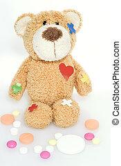hôpital, ours, teddy