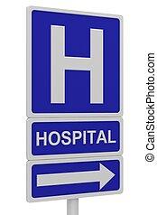 hôpital, panneaux signalisations