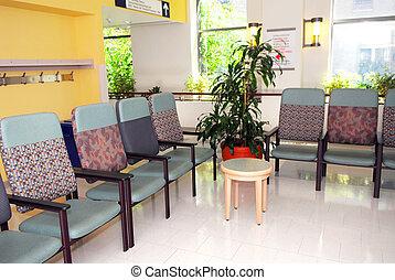 hôpital, salle d'attente
