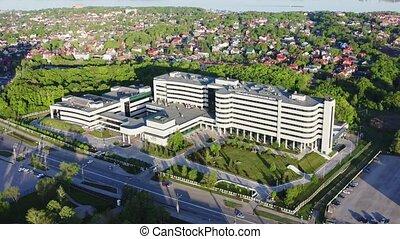 hôpital, vue aérienne