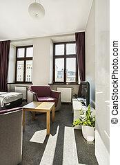 hôtel, appartement, moderne