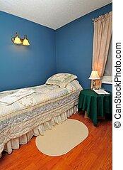 hôtel, confortable, chambre à coucher
