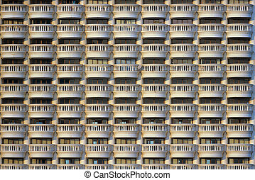 hôtel, modèle, balcons, seamless