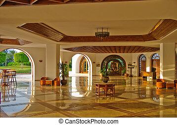 hôtel, moderne, luxe