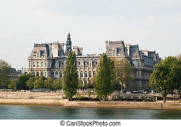 hôtel paris, de, ville, france