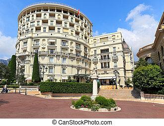 hôtel paris, vue extérieure, dans, monte carlo, monaco.