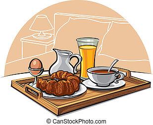 hôtel, petit déjeuner