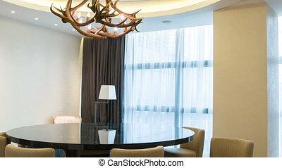 hôtel, réunion, luxe, salle