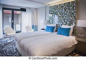 hôtel, salle moderne