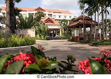 hôtel, -, siem, récolter, cambodge