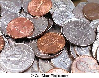 hög, av, amerikansk peng