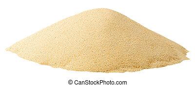 hög, av, sand