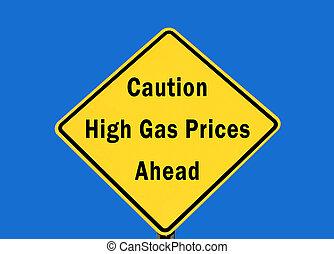 hög, gas, varning