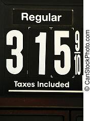 hög, priser, gas, undertecknar