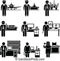 hög, professionell, jobb, inkomst