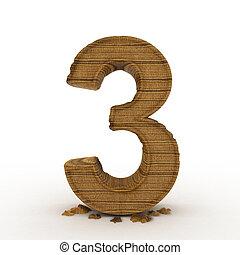 hög, res., 3, bambu, trä, numrerar