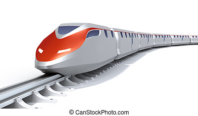 hög, tåg, begrepp, hastighet