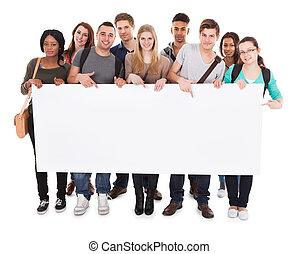 högskola studerande, visa, tom, affischtavla